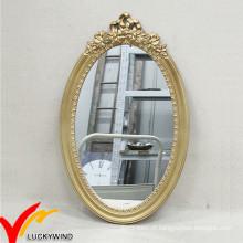 Espelho de parede de madeira oval decorativo antigo