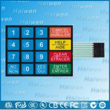 Пользовательский прототип 16-клавишный мембранный переключатель с 3M467