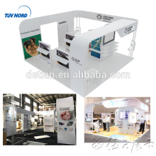 Detian Offer 20x20ft curve aluminium tube display rack exhibition stands