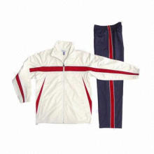 Men's Tracksuits, Fashionable Sportswear, Suit for Winter/Spring, Made of 100% Polyester, Red/White