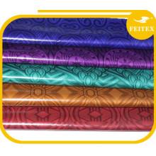 Diseño de la tela de moda en el sudeste asiático Hecho a mano Ghalila textiles tela 100% algodón Bazin Riche vestido de fiesta africano Shadda