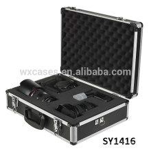 Boîtier solide en aluminium pour caméra avec mousse déhoussable en dés intérieur adapté pour toutes les tailles de contenu