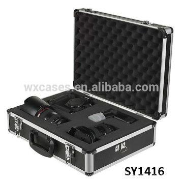 сильный алюминиевый корпус для камеры с съемным кубиками пены внутри подходит для любых размеров содержимого