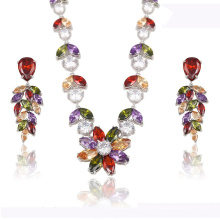 S-21 xuping fashion earrings and necklace custom luxury jewelry set