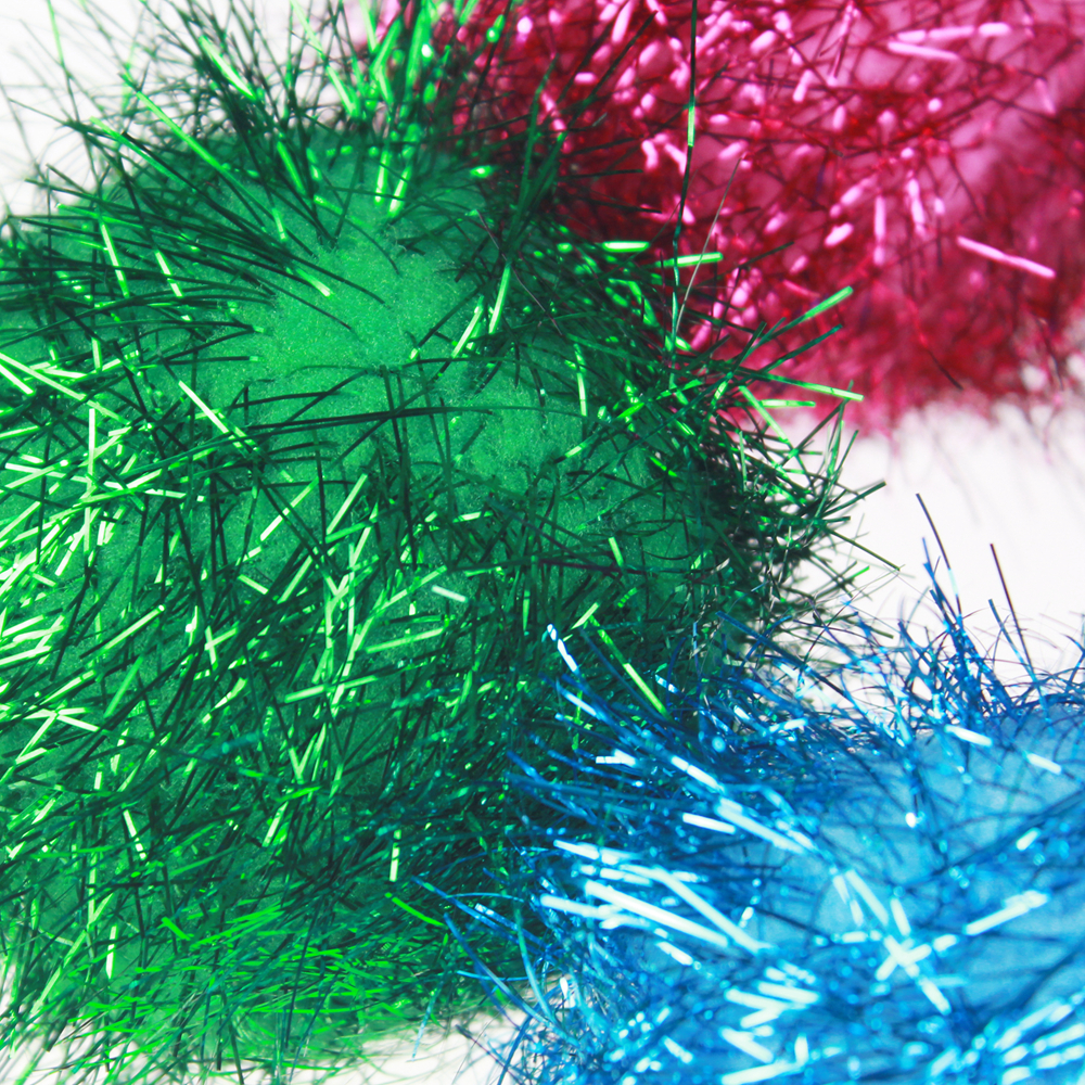 Large Tinsel Pompom