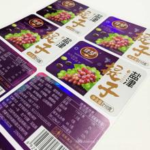 Étiquettes de fruit séché d'étiquette de raisin de raisin de haute qualité imprimant des coutumes