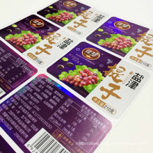 High quality raisin grape label dried fruit stickers Customs printing