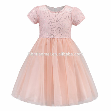 Pink Yellow Baby Frocks Designs With Sequins Girls Holy Communion Dress Flower Girl Gown