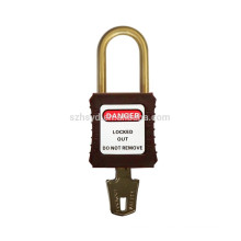 CE approval nylon lockbody insulation anti slipping 38mm safety padlock