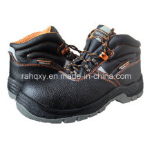 Hot Sell Split Embossed Leather Safety Shoes (HQ05021)