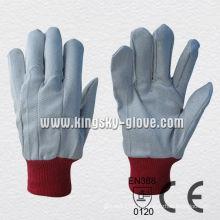 Gants en tricot de travail de coton de poignet de tricot de polyester-2100. Rd