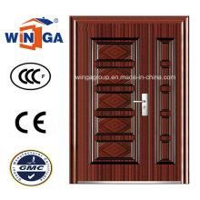 Middle Market Exterior Security Steel Metal Iron Door (W-SZ-07)