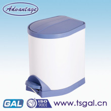 Plastic soft close color waste bin