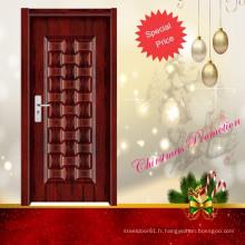 stylisme de la porte intérieure en bois moderne