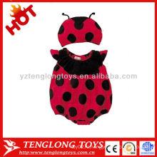 2015 новейший дизайн прекрасный ladybug лето baby romper