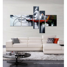 Hand-Painted Canvas Oil Painting Black and White