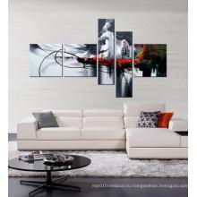 Ручная роспись холст картина маслом черный и белый
