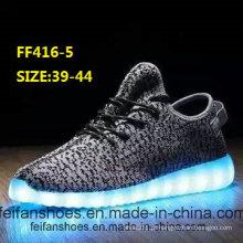 Homens piscando sapatos de luz LED sapatos de desporto (ff416-5)