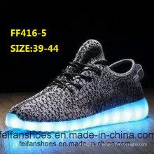 Мужчины мигающий светодиодный свет обувь спортивная обувь (FF416-5)