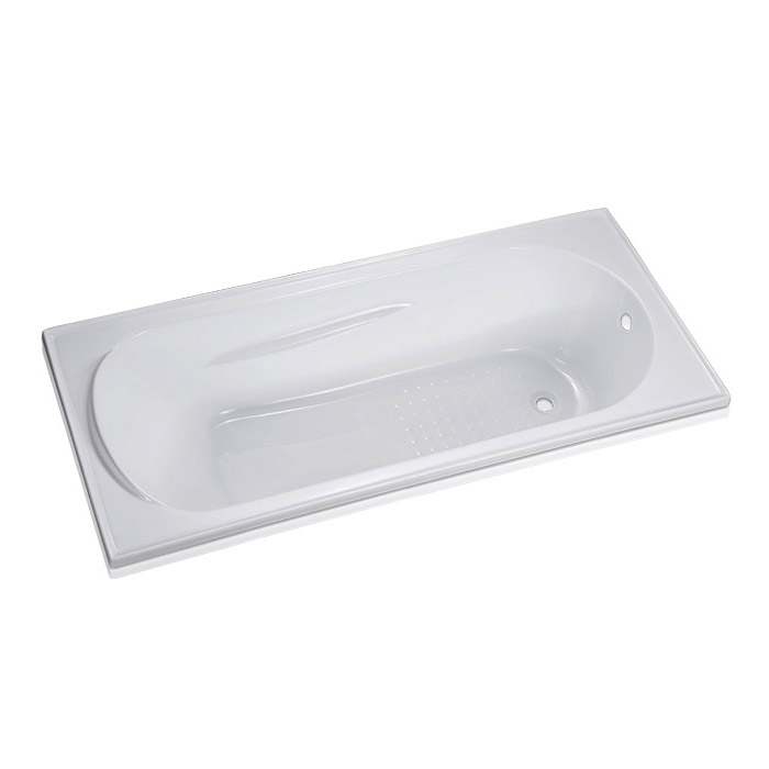 EverClean Apron Soaking Bathtub in White