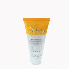 tubo de empacotamento cosmético plástico transparente bonito do sunblock