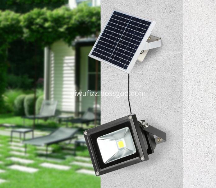 Outdoor solar floodlights