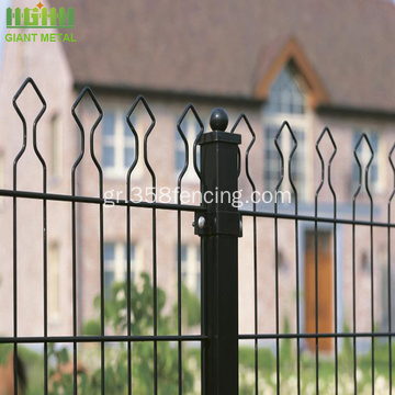 PVC Coated Decorative Double Garden Fence