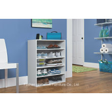 White Wooden Stack-Able 5-Shelf Shoe Cabinet (HHSR06)