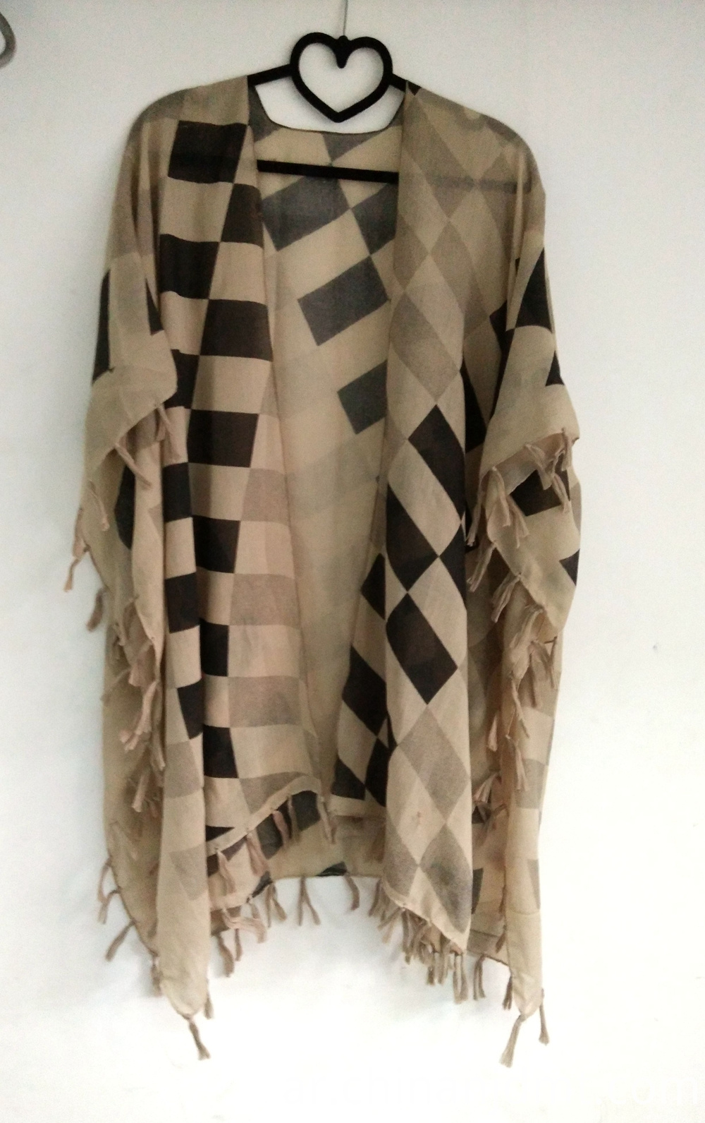 Ladies Fashion Printing Kimono brown