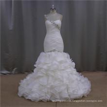 High Quality Sweetheart fashion beaded organza beijing wedding dress