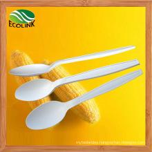 100% Disposable Biodegradable Ice Cream Spoon Made of Cornstarch