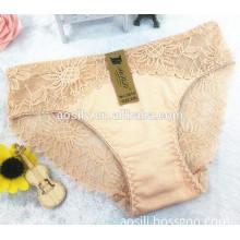 AS-3012 OEM wholesale women panties sunflowers lace 32s cotton undergarments
