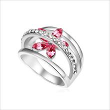 VAGULA цветной хрусталь серебряный палец кольцо