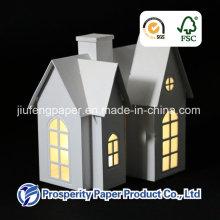 Рождественский бумажный дом со светодиодной подсветкой