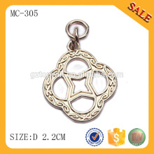 MC305 Gold color garment accessories custom metal hang tag for clothing