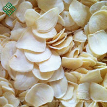 Hot selling air dehydrated garlic slices flakes without root