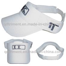 Respirable de poliéster de malla de bordado deportivo sombrero de visera de sol (TMV00139-1)