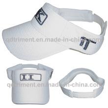 Breathable Polyester Mesh Embroidery Sport Sun Visor Hat (TMV00139-1)