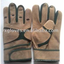 Guante de cuero de vaca Guante de mecánico de guantes Guante de seguridad de guantes