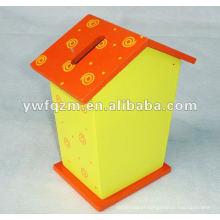 caixa de armazenamento de dinheiro delicada e bonita de madeira para promoção