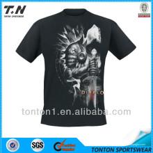 Textura de algodón de moda Camiseta de impresión personalizada de los hombres baratos