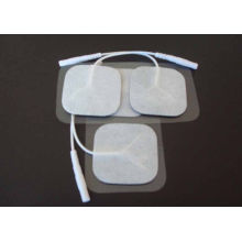 40*40mm Residue Conductive Carbon Film Reusable Electrode Pads, Square Silver Paste Electrode Pads