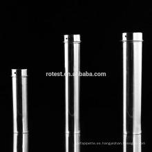La pipeta de acero inoxidable de la buena calidad esteriliza el envase 90 * 350m m