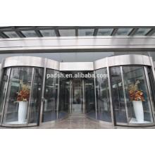 CE aprovado edifício comercial exterior automático de portas giratórias