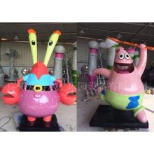 Fiberglass Cartoon Style Water Pool Toys , Water Playground