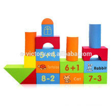 74pcs Happy kids big blocks funny 3d plastic building blocks toy