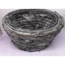 cesta grande de ratán vintage para el hogar