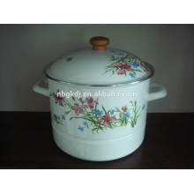 enamel steamer enamel cookware stemer pot with hollow handle  enamel steamer enamel cookware stemer pot with hollow handle