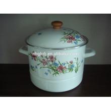 enamel steamer enamel cookware stemer pot with hollow handle enamel steamer enamel cookware stemer pot with hollow handle