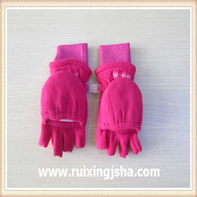 Children's cut finger earflap gloves
